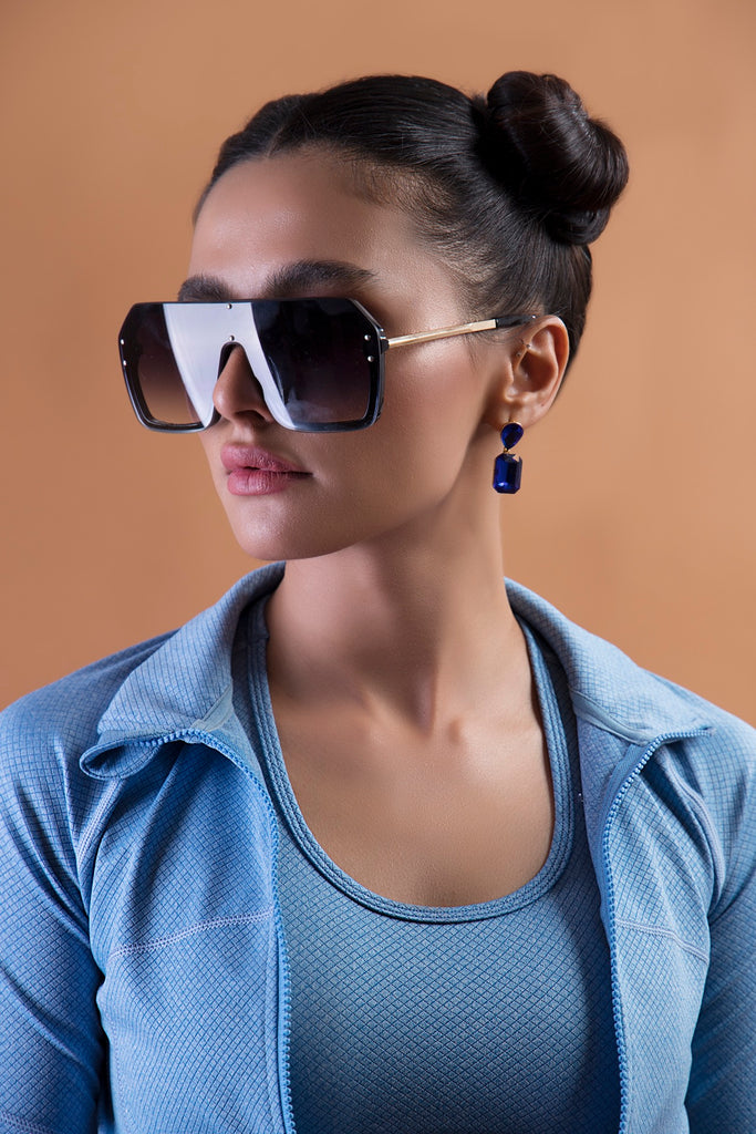 Gradient Tint Square Shield Sunnies