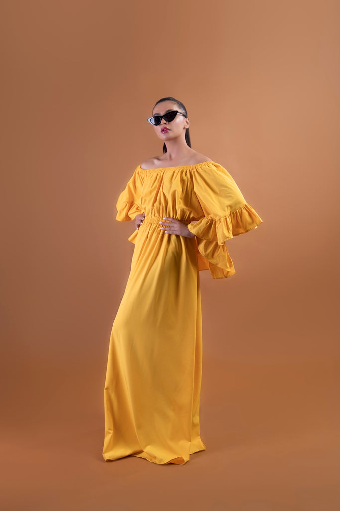 Buttercup Frilled Maxi