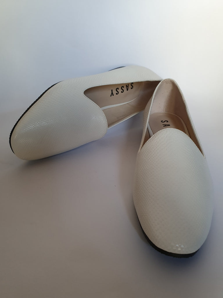 Nina' Flat Loafer White