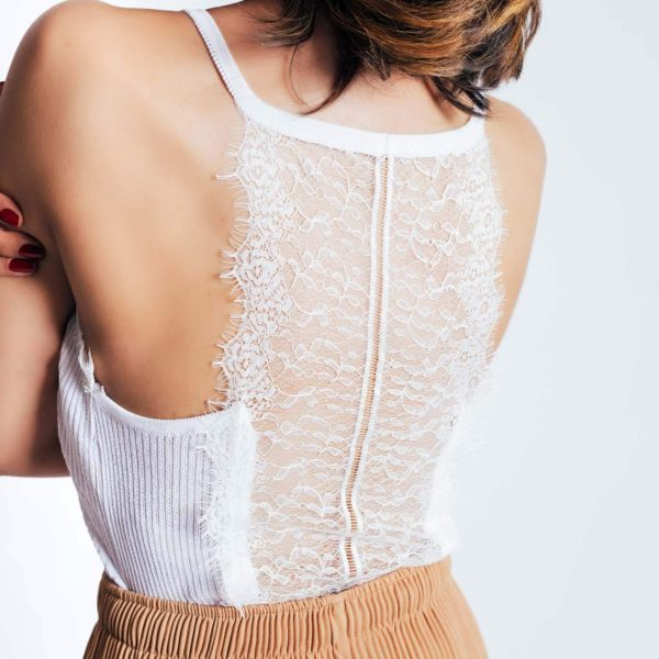 Bombshell Lace Tank Top