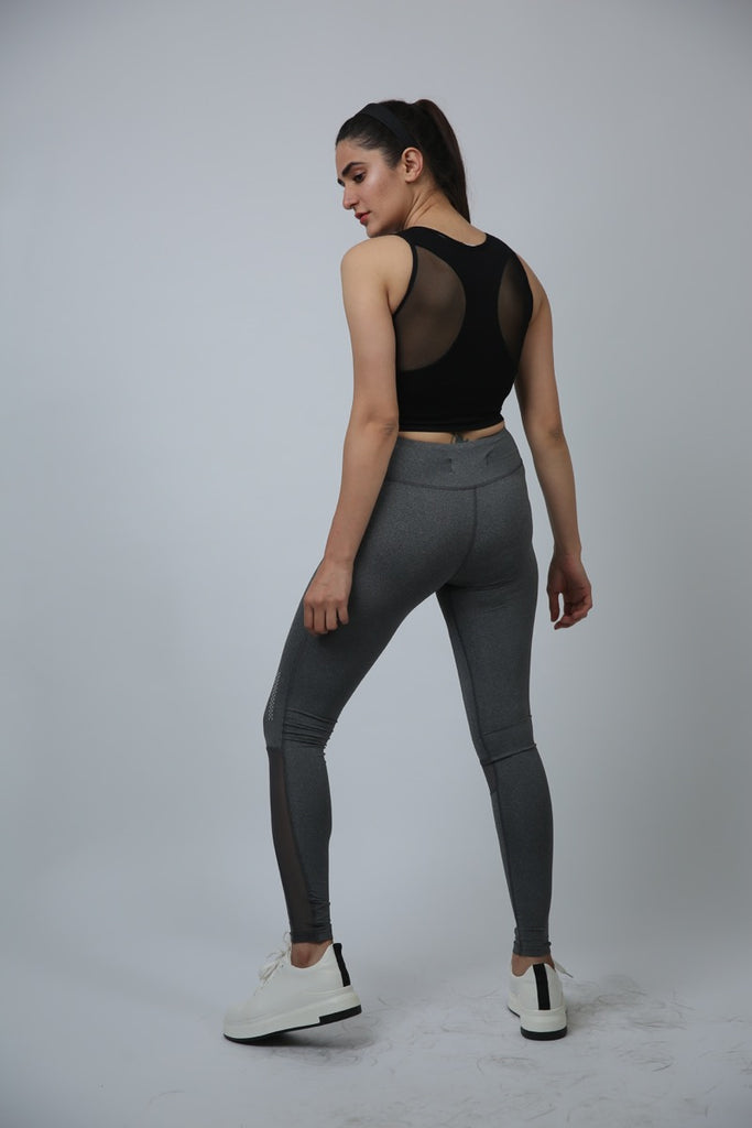Kiss My Sass Compression Tights Grey