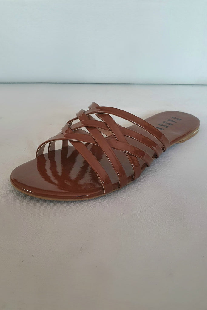 Sassy Cage Slides Brown