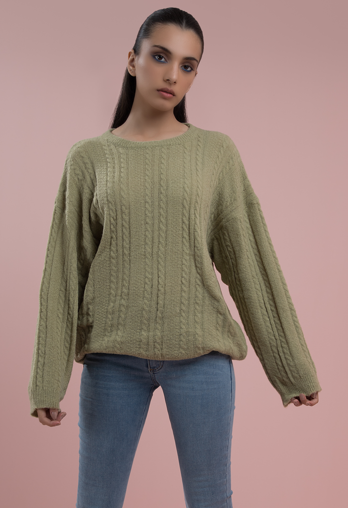 Cheeky Cherub Cable knit Green