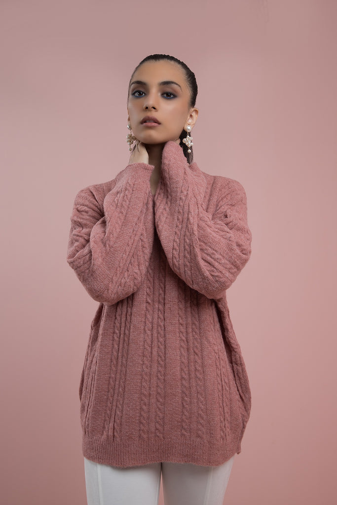 Cheeky Cherub Cable knit Pink