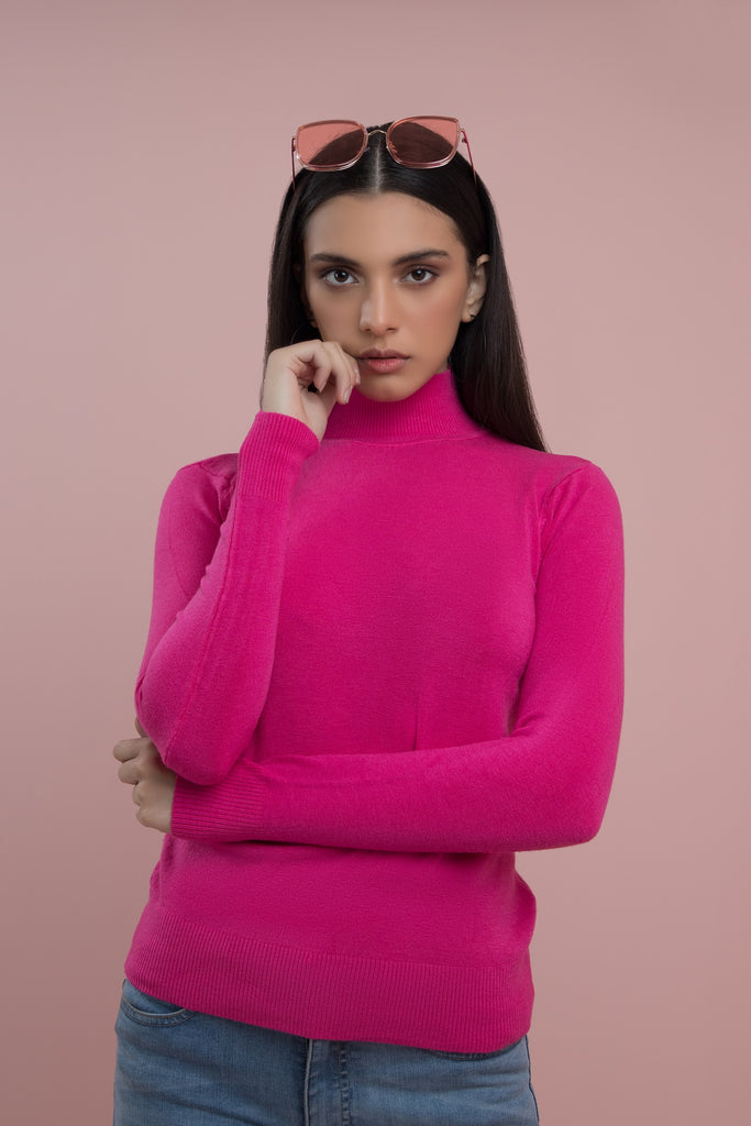 Flat out Fabulous High Neck Fuscia