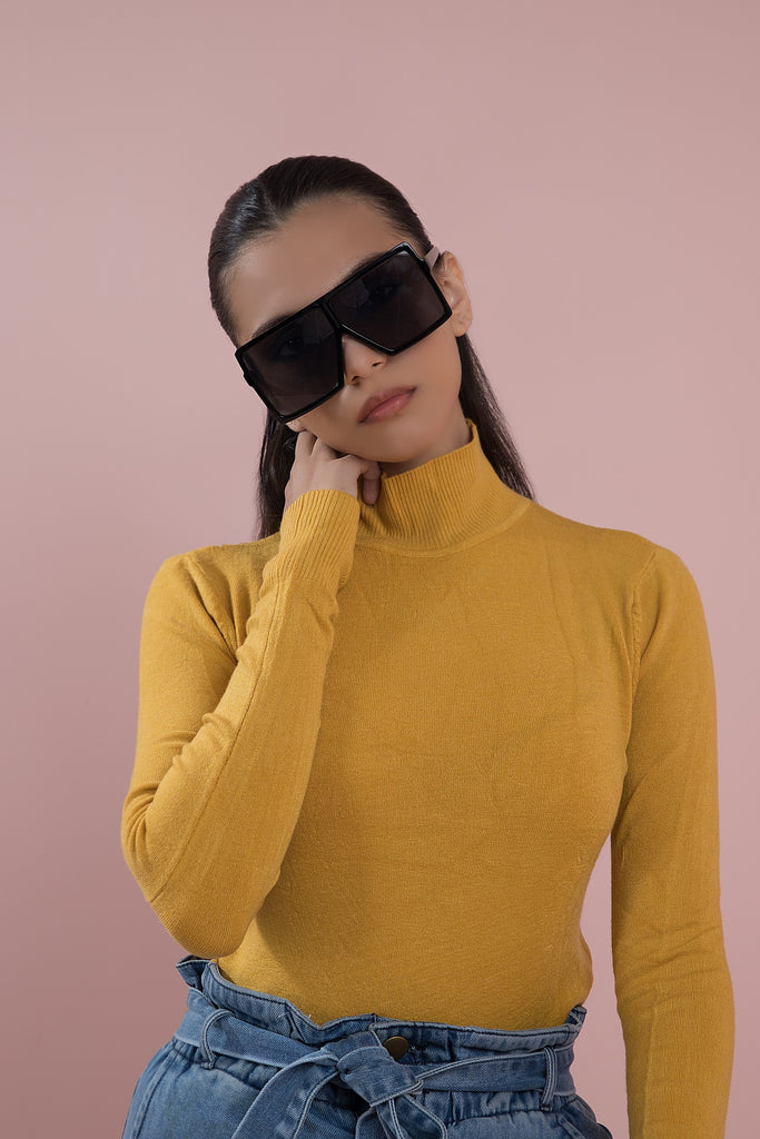 Flat out Fabulous High Neck Mustard