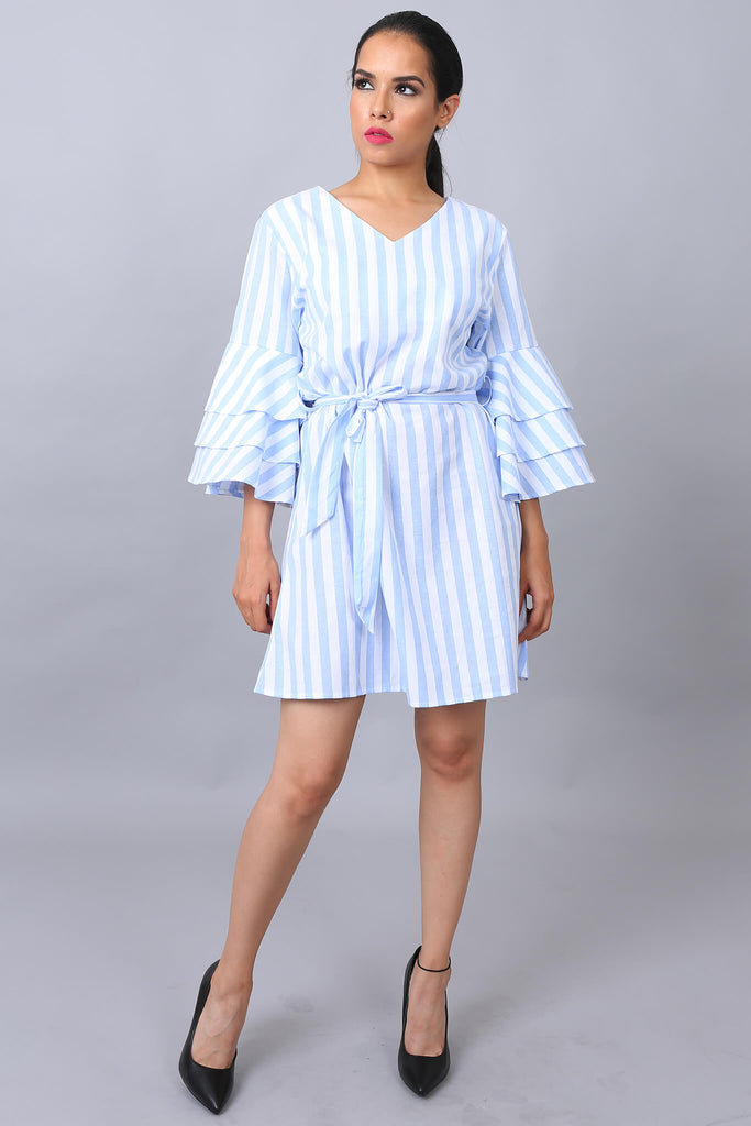 Kiki Bloom Dress Blue