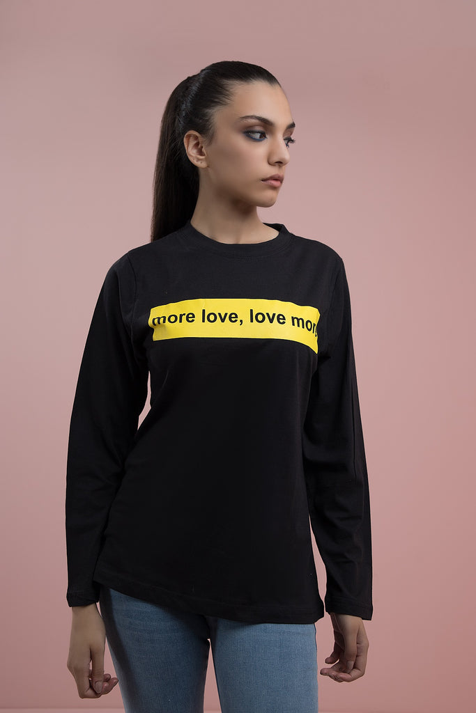 Love, Love, Love T-shirt  Black