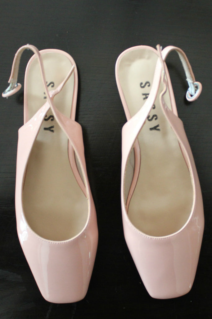 Popsicle Square Toes ballet Slingbacks