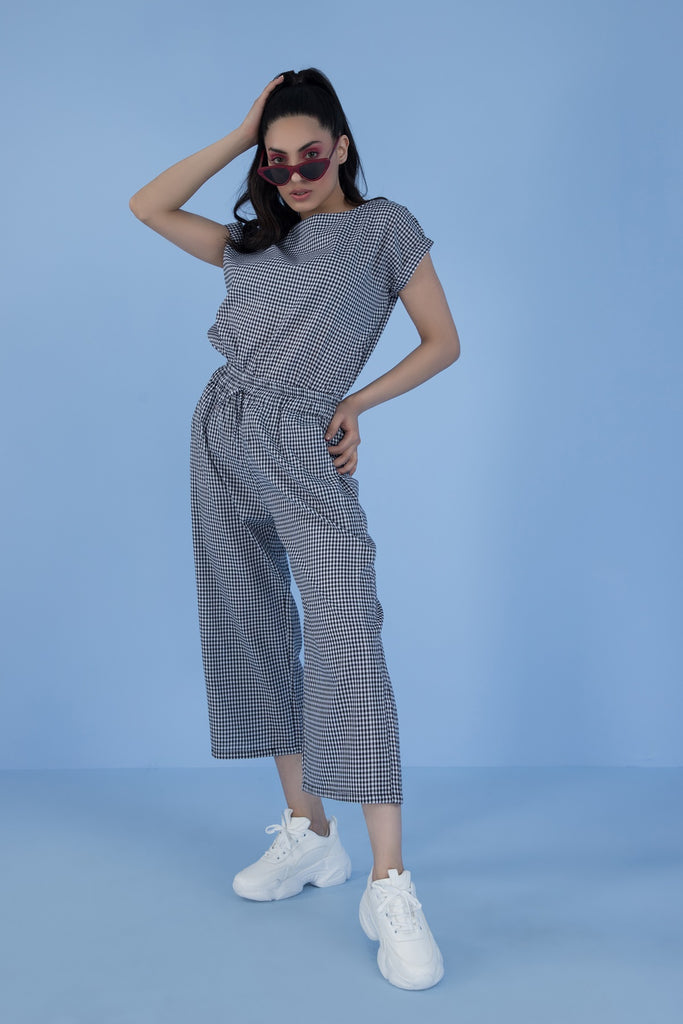 Queen B Matching Separates  Grey Check