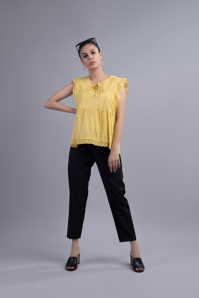 Tuna Tulip Blouse Yellow