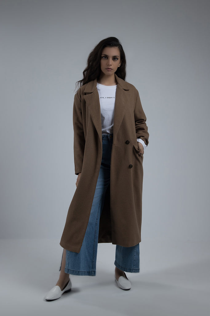Veronica Long Coat Camel