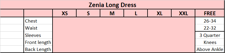 Zenia Long Dress