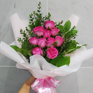 (V8) Romantic Pink Roses