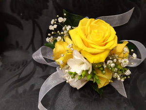 (W11) Yellow corsage