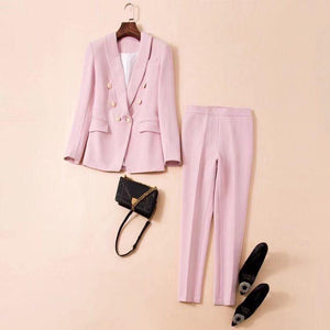 CRISTINA Pink V Neck Long Sleeve Maxi  Bodycon Set