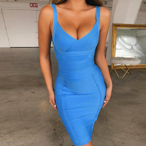 FEDORA Strapy Sleeveless Mini Backless Bandage Dress