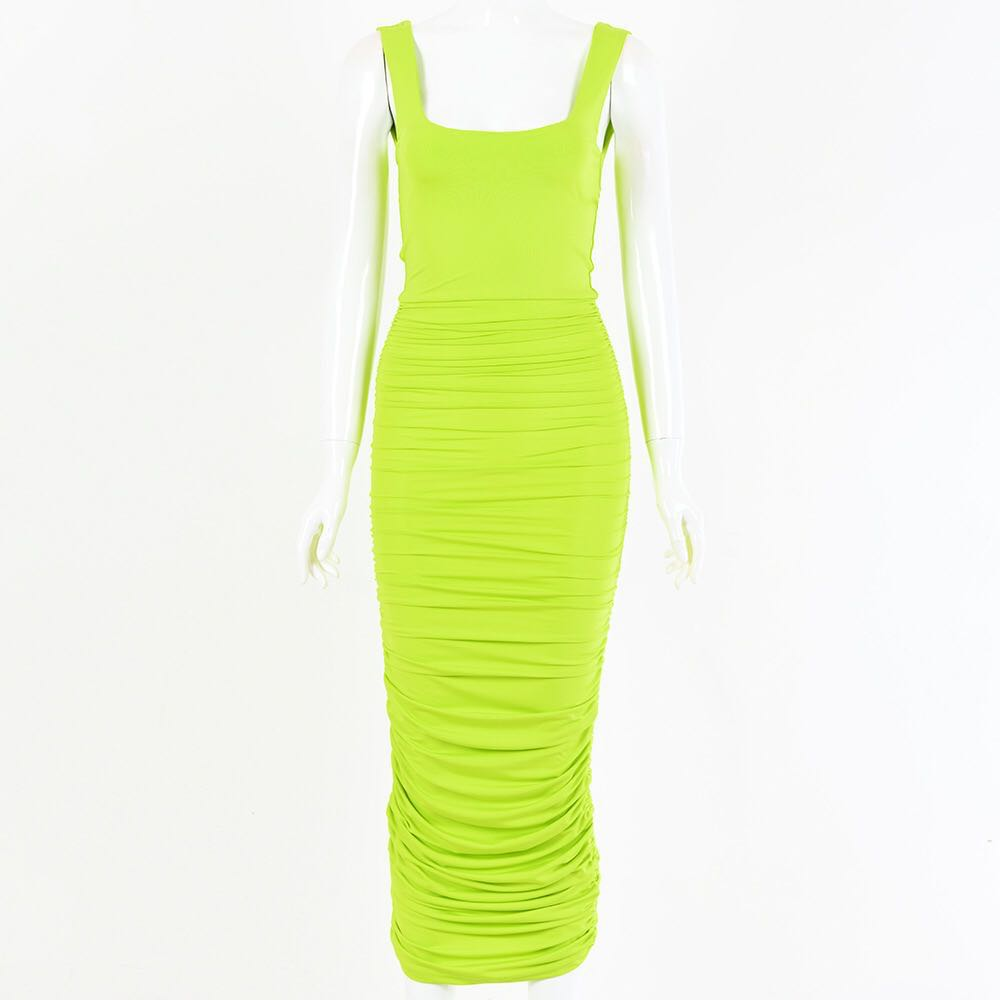 ELLY RUCHED MIDAXI DRESS