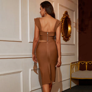 KERRIN Long Sleeve Tull Bandage Dress