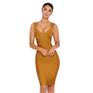 Kosue Strapy Sleeveless Bandage Dress
