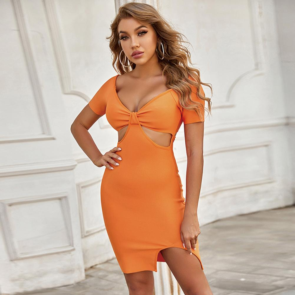 MINTA Strapless Sleeveless Fishtail Midi Bandage Dress