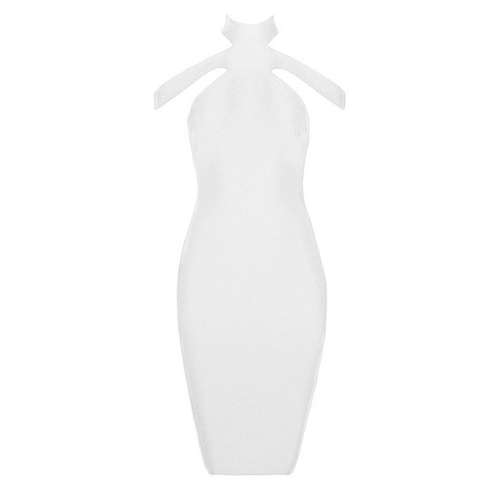 Nana Sleeveless Mini Cut Out Backless Bandage Dress