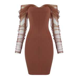 ROBERTA CUT OFF BANDAGE DRESS