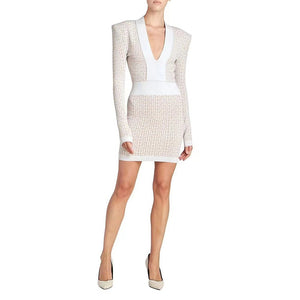 SIFREDA STRAPY SLEEVELESS BACKLESS MINI BANDAGE DRESS