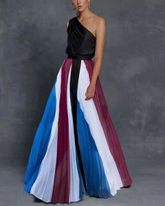 SUKI One Shoulder Multicolor Maxi Dress