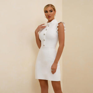 VANIA STRAPY SLEEVELESS MINI BANDAGE DRESS