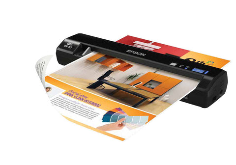 "Epson WorkForce DS-40 Color Portable Scanner (8.5"" x 36"") (600 dpi) (48 Bit Internal/24 Bit External) (Duty 250) (USB) (Wireless)"