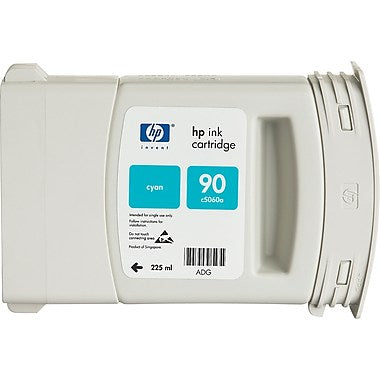 HP 90 (C5061A) Cyan Original Ink Cartridge (400 ml)