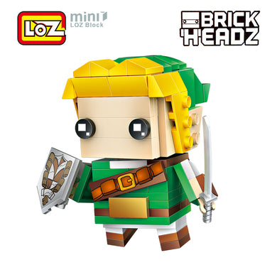 Link The Legend of Zelda Brick Head Action Figure