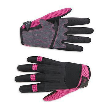 Harley-Davidson textile full-finger gloves women's pink