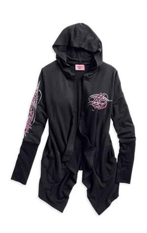 Harley-Davidson pink label LE, cardigan women's black