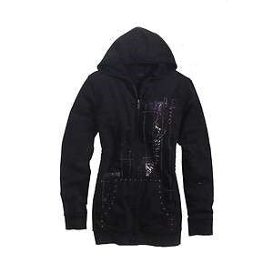 Harley-Davidson tunic length hoodie W/applique women's black