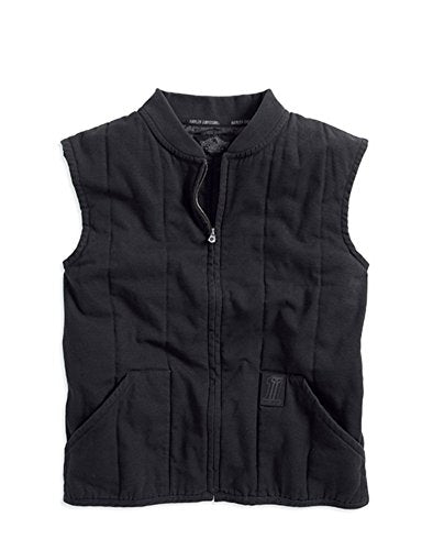 Harley-Davidson vest-bl, quilted men's black