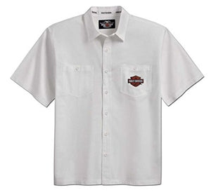 Harley-Davidson S/S woven shirt men's white