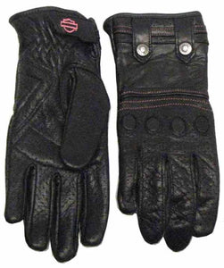 Harley-Davidson perforated lthr f-finger glove women's