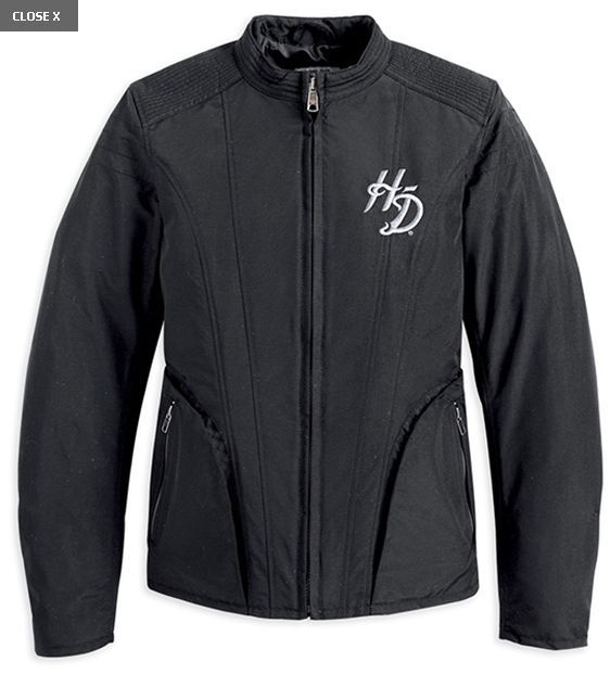 Harley-Davidson  jacket-carmen, nylon feb, del/women's black