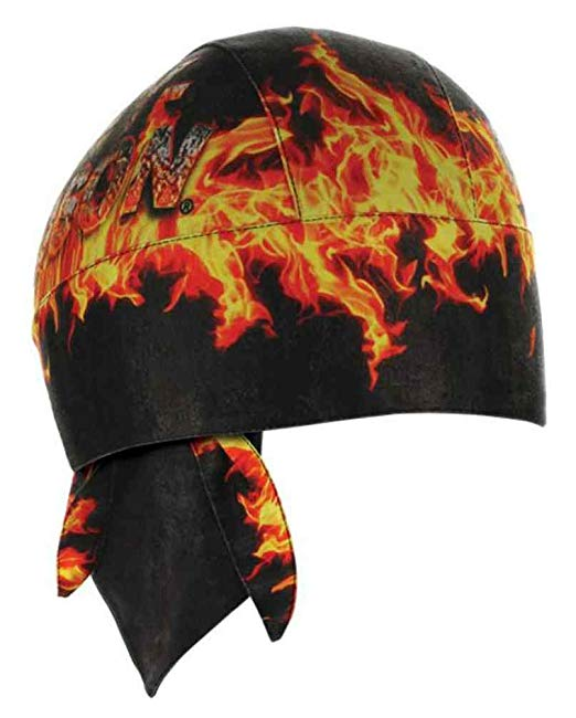 Harley-Davidson headwrap H-D combustion black & orange sublimated