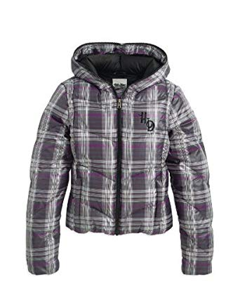 Harley-Davidson jacket-hooded down, plaid, PRT women's
