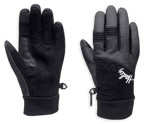 Harley-Davidson trench waterproof gloves women's black