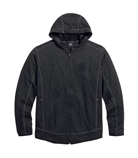 Harley-Davidson hoodie-zip front fleece men's black