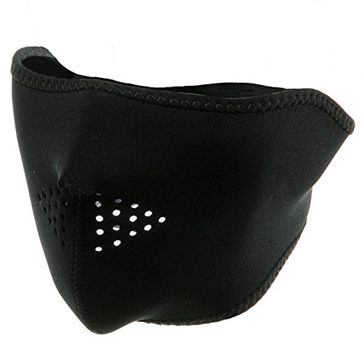 Zan neoprene half mask black