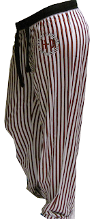 Harley-Davidson pants-personal garment dec del/women's striped