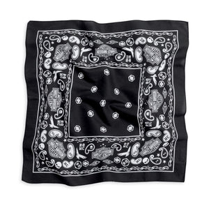 Harley-Davidson bandana HD pattern men's black