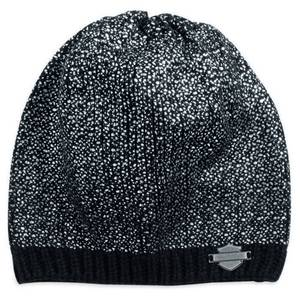Harley-Davidson hat-knit, metallic black women's