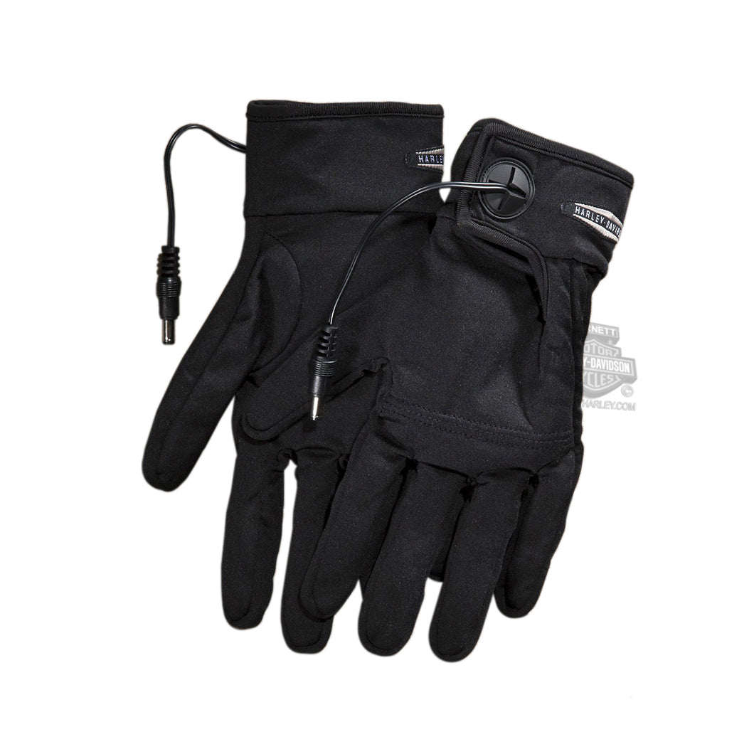 Harley-Davidson heated one-touch programmable 12V glove liner men's black