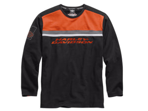 Harley-Davidson knit-clr men's black/orange